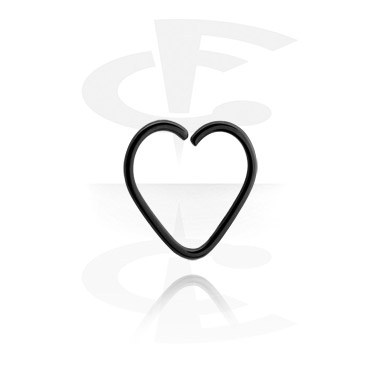 Черная серьга в форме сердца