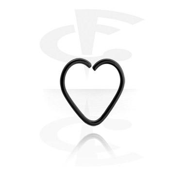 Musta sydämenmuotoinen continous-rengas