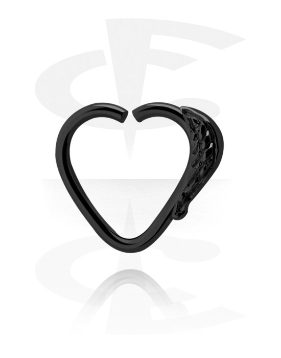 Piercingringen, Hartvormig continuous ring, Chirurgisch staal 316L