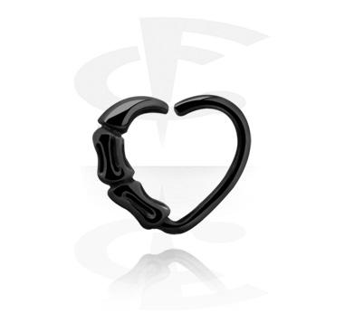 Musta sydämenmuotoinen continuous-rengas