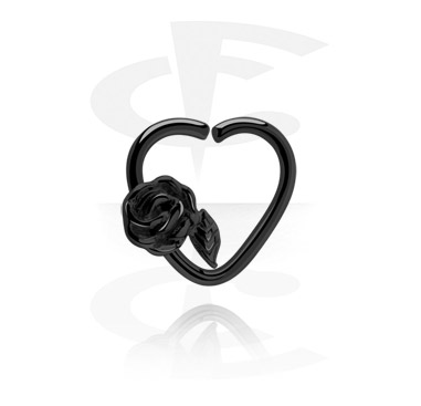 Zwarte hartvormige Continuous Ring