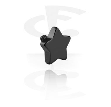 Pallot ja koristeet, Black Steel Star, Surgical Steel 316L