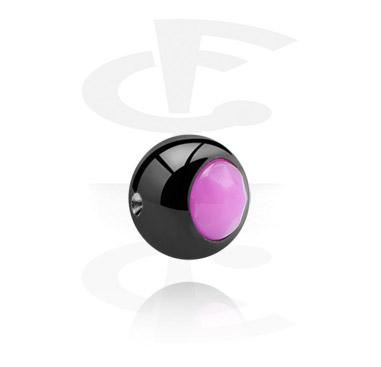 Musta pallo ball closure-renkaaseen