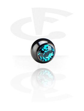Schwarze Kristallsteinkugel