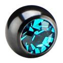 Kulki i inne zakończenia, Jeweled Ball for 1.2 mm Pins, Surgical Steel 316L