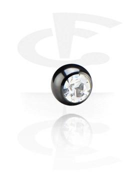 Pallot ja koristeet, Jeweled Ball for 1.2 mm Pins, Surgical Steel 316L