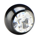 Ballen & Accessoires, Jeweled Ball for 1.2 mm Pins, Chirurgisch staal 316L
