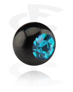 Black Micro Jeweled Ball
