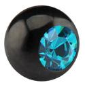 Kulki i inne zakończenia, Black Micro Jeweled Ball, Surgical Steel 316L
