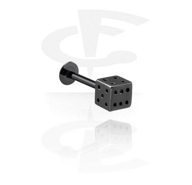 Black Labret with dice attachment
