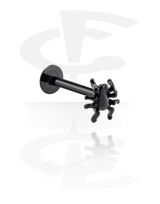 Labrety, Black Labret, Surgical Steel 316L