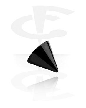 Kuglice i zamjenski nastavci, Black Micro Cone, Surgical Steel 316L