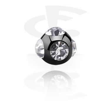 Bolas y Accesorios, Black Micro Tiffany Ball, Acero quirúrgico 316L