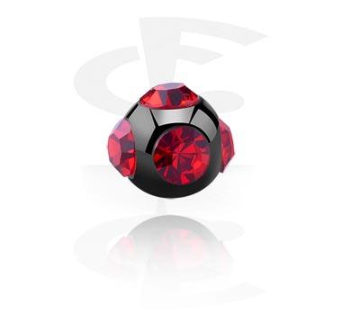Pallot ja koristeet, Black Micro Tiffany Ball, Surgical Steel 316L