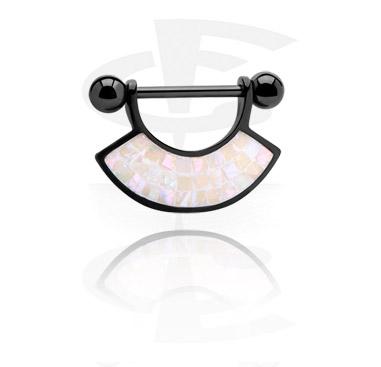 Black Nipple Piercing