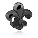 Balls & Replacement Ends, Black Charm, Surgical Steel 316L