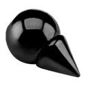 Kuličky a náhradní koncovky, Black Micro Thorn, Surgical Steel 316L