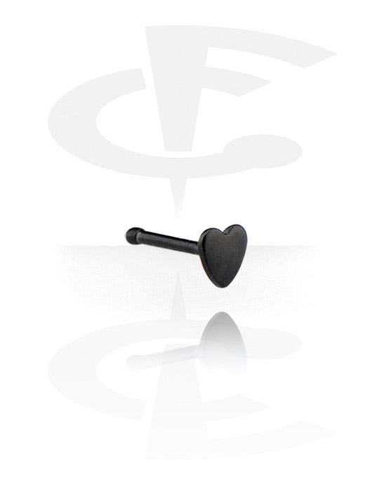 Nosovky a kroužky do nosu, Black Nose Bone, Surgical Steel 316L