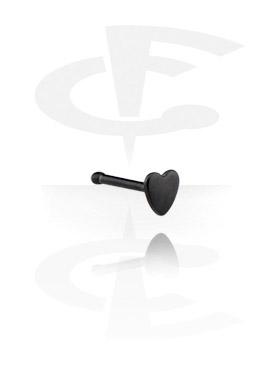 Piercings Nariz, Black Nose Bone, Acero quirúrgico 316L