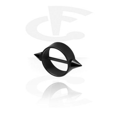 Nännikorut, Black Nipple Shield, Surgical Steel 316L