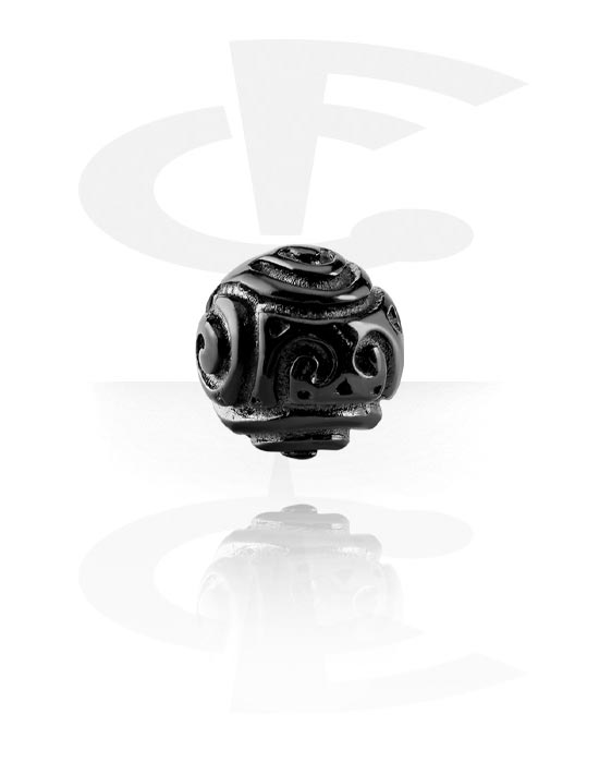Kuličky, kolíčky a další, Černé závitové doplňky 1,6 mm, Surgical Steel 316L