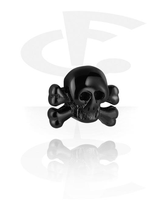 Kuličky, kolíčky a další, Black Steel Cast Attachment, Surgical Steel 316L
