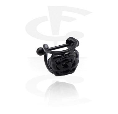 Zwarte helixpiercing