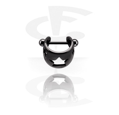 Black Steel Cast Ear Shield