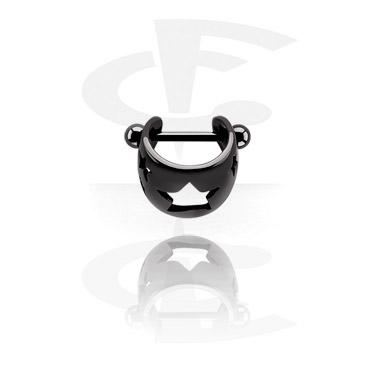 Schwarzer Helix-Piercing
