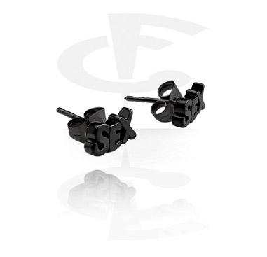 Boucles d'oreilles noires