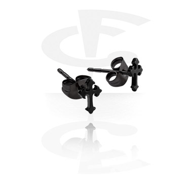 Black Steel Casting Ear Studs