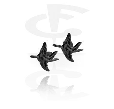 Черные серьги - гвоздики