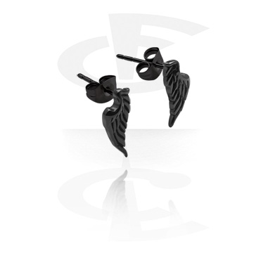 Black Steel Casting Ear Studs