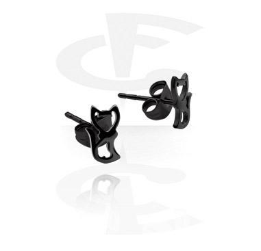 Studs d'oreilles noirs