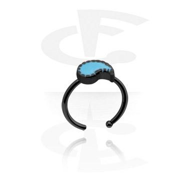 Черное кольцо для носа
