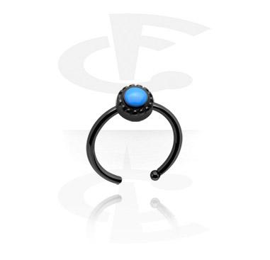 Nose Jewellery & Septums, Black Nose Ring, Surgical Steel 316L