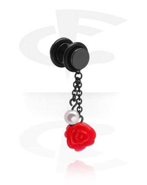 Zwarte Fake Plug met hangertje