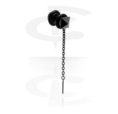 Black Fake Plug with Chain