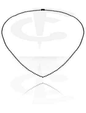 Halsketten, Schwarze Halskette, Chirurgenstahl 316L