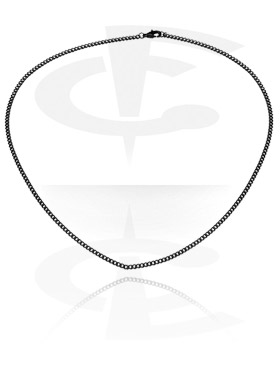 Ogrlice, Crna ogrlica, Surgical Steel 316L