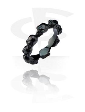Sormukset, Black Steel Cast Ring, Surgical Steel 316L