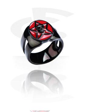 Anillos, Black Steel Cast Ring, Acero quirúrgico 316L