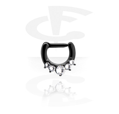 Black Jewelled Septum Clicker