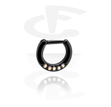 Septum Clicker nero con cerniera