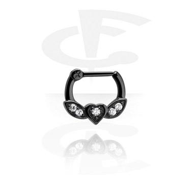 Septum Clicker preto com dobradiça