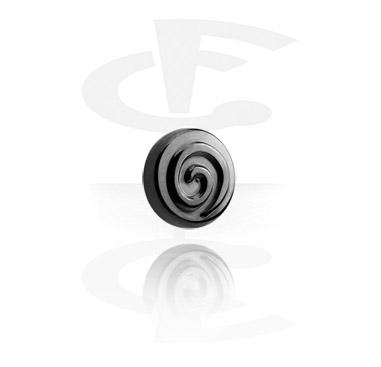 Zwarte disc met schroefdraad