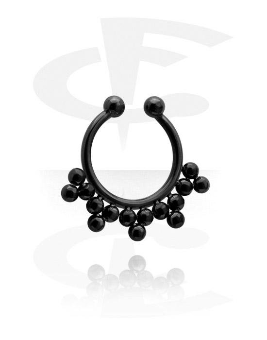 Fake Piercings, Black Fake Septum, Surgical Steel 316L