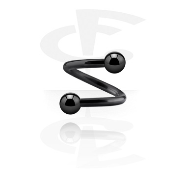 Black Twisted Barbell