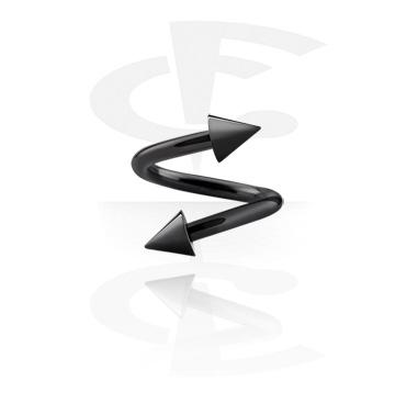 Черная штанга - спираль с конусами