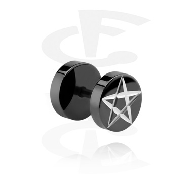 Schwarzer Fake Plug